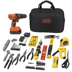 BLACK+DECKER Tool 80pc Kit w/ DRILL Project Set & Stanley Ho
