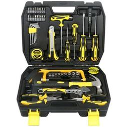 DOWELL 48 PCS Tool Set,Home Repair Hand Kit with Plastic box