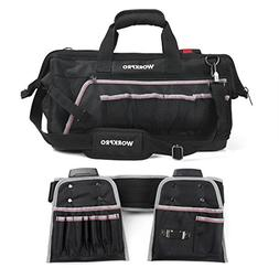 Tool Bags WORKPRO Heavy Duty 18-Inch Molded Waterproof Botto