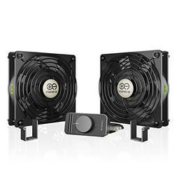 AC Infinity AXIAL S1225D, Dual 120mm Muffin Fan with Speed C