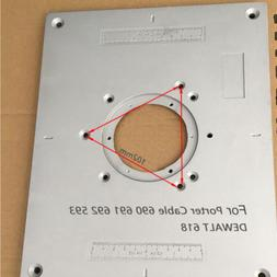 Aluminum Router Table Insert Plate for Porter Cable 690 691