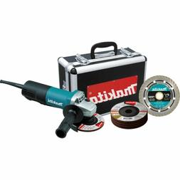 """4-1/2"""" Angle Grinder with Diamond Blade and 4 Grin"""