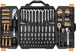 Auto Mechanics Tool Set Repair Hand Tool Kit Plastic Storage
