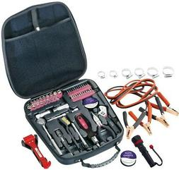 64 Piece Travel and Automotive Tool Kit - Color: Pink