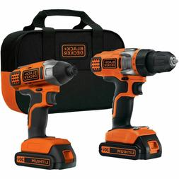 BDCD220IA 20-Volt Lithium-Ion Drill and Impact Driver Kit Bl