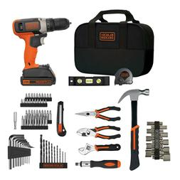 Black and Decker 12V MAX Lithium Ion Drill with 64-Piece Pro