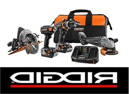 New Ridgid Limited Edition 18v  Brushless Tool Combo Kit +
