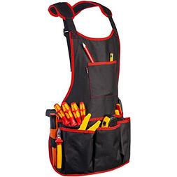 NoCry Professional Canvas Work Apron - with 16 Tool Pockets,