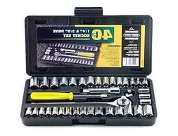 Car Drive Kit Set Hand Tools In Compact Box 40 Home Tool Pie