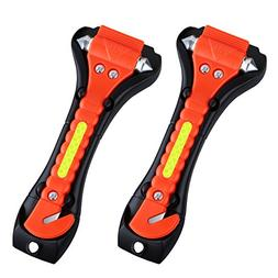 VicTsing 2 Pack Car Safety Hammer, Emergency Escape Tool wit