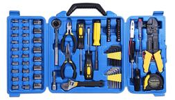 CARTMAN 122pcs Drive Socket Tool Kit Electric Set Auto Tool