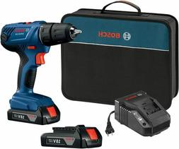 "Bosch 18V Compact 1/2"" Drill/Driver Kit with  1.5 Ah Slim Pa"