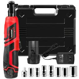 "Cordless Electric 3/8"" Ratchet Wrench 12V Power Ratchet Tool"