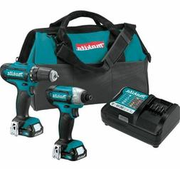 Cordless Power Tool Drill Set, 2 Piece Tools Kit, Rechargeab