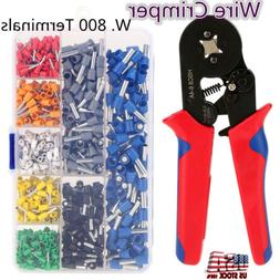 Crimp Tool Kit Ferrule Crimper Plier Stripper 800 Connector