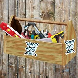 Dads Tool Kit Sticker for Fathers Day or Birthday Toolbox Ac