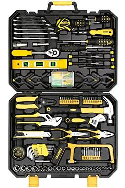 DEKO 168 Piece Tool Set for Auto Repair, General Household w