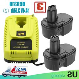 For Dewalt 14.4volt 3.6Ah XRP Battery+For Dewalt DC9310 7.2V