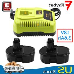For Dewalt 18volt 3.6Ah XRP Battery(2)+For Dewalt DC9310