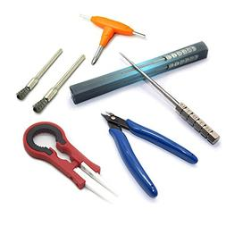 DIY Tool Kit - 3 in 1 Ceramics Tweezers + Scissors Pliers +