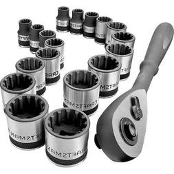 """Craftsman 19-piece 3/8"""" Dr. Inch and Metric Universal Socket"""
