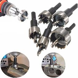 Drill Bit Hole Saw Kit, TFSeven 5 Pieces 16-30MM HSS Drill B