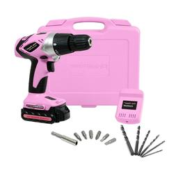 Electric Drill Cordless Driver Kit Machine for Women Tool Ca