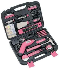 Apollo Tools DT0773N1 Household Tool Kit, Pink, 135-Piece, D