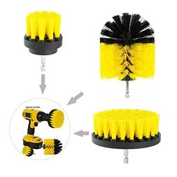 Yeefant 3Pcs Durable Grout Power Scrubber Nylon Cleaning Bru
