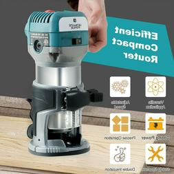 Electric Palm Router Tool Kit Wood Trimmer Fixed Base 710 W