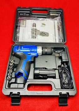 Hyperikon Electric Power Drill Lithium 12V with Driver Set a