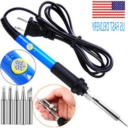 Electric Soldering Iron Gun Adjustable Temperature 60W Weldi