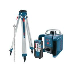 Bosch Exterior Self-Leveling Rotary Laser Kit with Receiver,