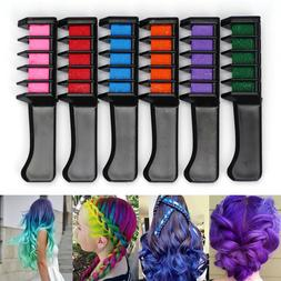 6 PCS Hair Color Comb Disposable Dye Temporary DIY Chalk Too