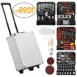 1099 Rolling Tool Box with Tools Mechanic Tool Set Kit Organ