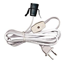 Heavy-Duty Clip Style Cord Set With Socket, Switch And Plug.