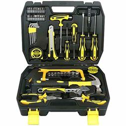 DOWELL Home Repair Hand Tool Kit with Plastic Tool Box Stora