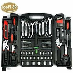 KINGORIGIN 95 Piece Home Repair Tool Kits,Multi Tools Set, H