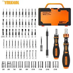 Jakemy Home Rotatable Ratchet Screwdriver Set, 69 in 1 House