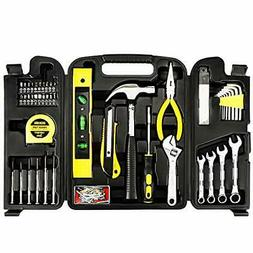 Homeowner Hand Tool Set w Storage Case, Handy Man Kit, Measu