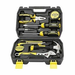 DOWELL 9PCS Small Tool Kit,Mini Portable Tool Set,Home Repai