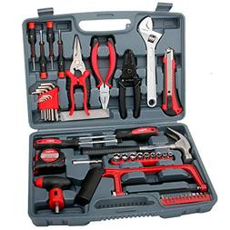 Hi-Spec 53 Piece Household Tool Kit with Claw Hammer, Hack S