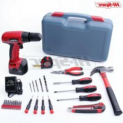 Hi-Spec 26 Piece Household Tool Kit Including 12V Cordless D