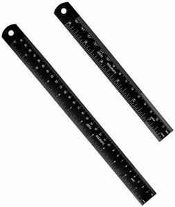Intoy Metal Ruler Kit 12 Inches and 6 Inches, Laser Etched S