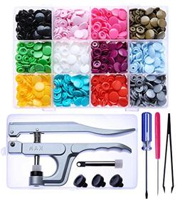KAM Snaps Starter Kit - 360 Pairs Plastic Snap Fastener and
