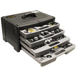 105-Piece Tool Box Kit w/ 4-Drawer Case Durable Wrench Screw