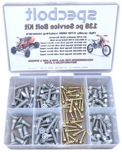 138 pc Specbolt KTM Bolt Kit for Maintenance, Restoration, a