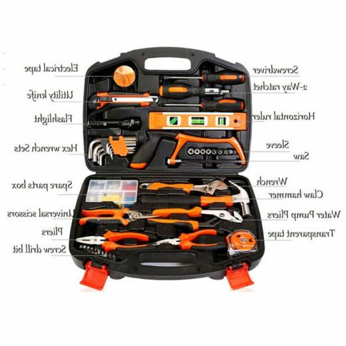 100 pieces household tools home tool set