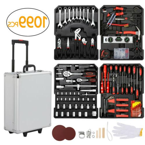 1099PCS Organizer Tool Box with Mechanic Portable