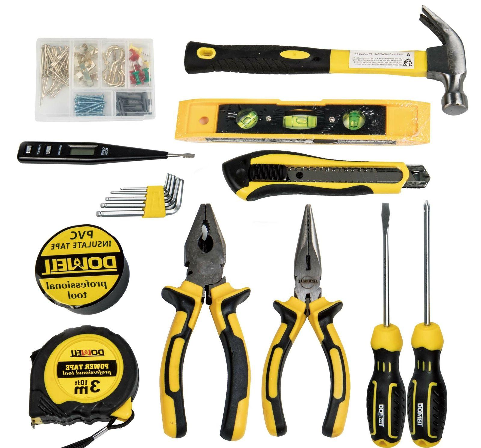 Dowell 116-Piece Homeowner General Portable Repair Kit with Tool